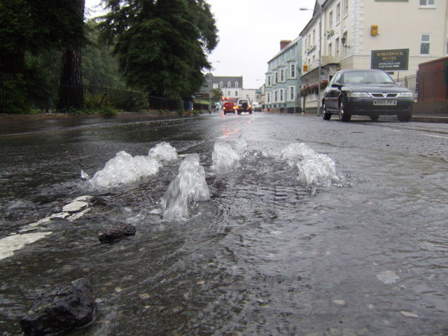 Image of poor drainage system